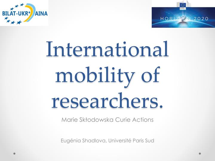 international mobility of researchers n.