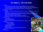 2 0 station 2 life in the water