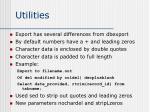 utilities3