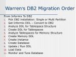 warren s db2 migration order