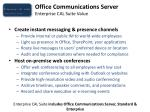 office communications server enterprise cal suite value