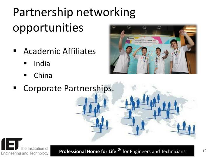 Partnership networking opportunities
