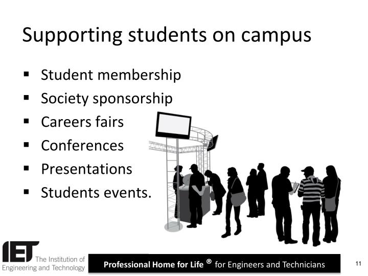 Supporting students on campus
