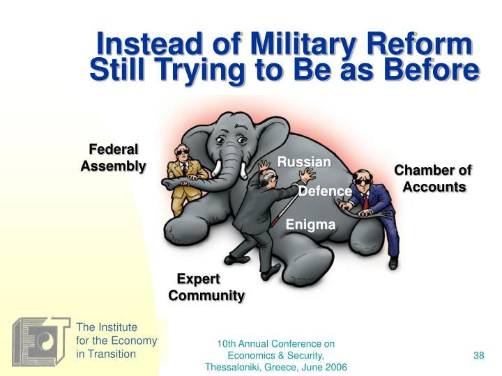 Instead of Military Reform Still Trying to Be as Before