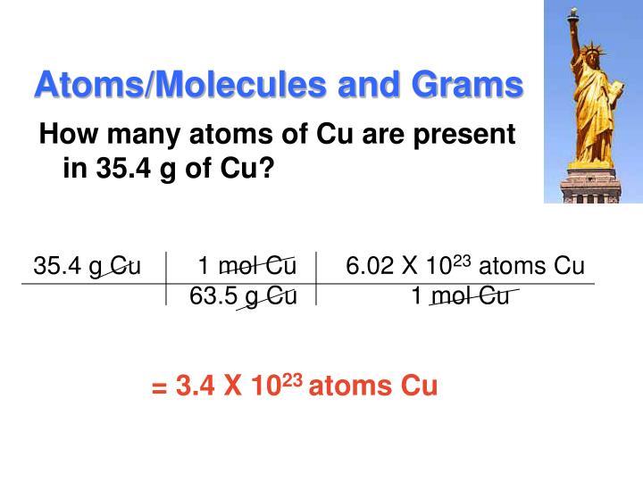 Atoms/Molecules and Grams