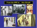 from the spe to abu ghraib
