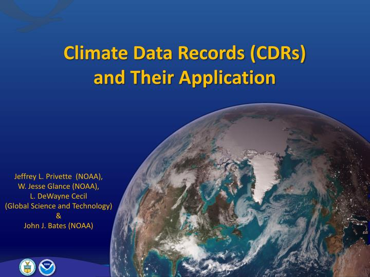 climate data records cdrs and their application n.