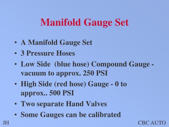Manifold Gauge Set