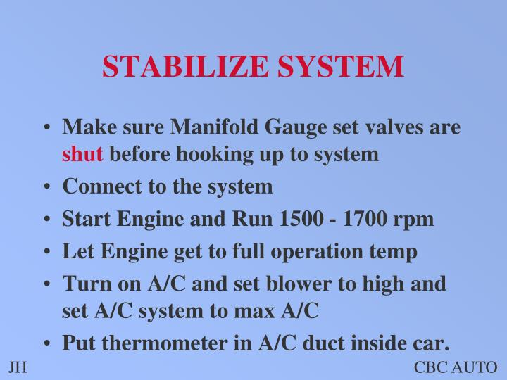 STABILIZE SYSTEM