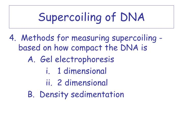 Supercoiling of DNA