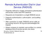 remote authentication dial in user service radius
