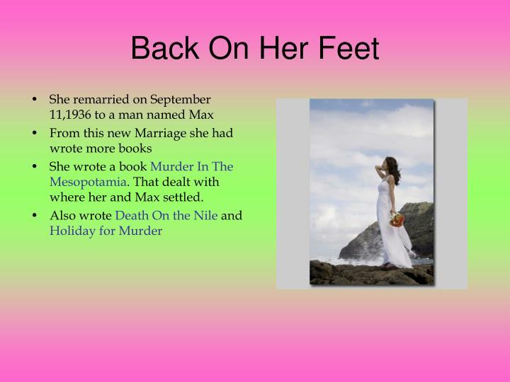 Back On Her Feet