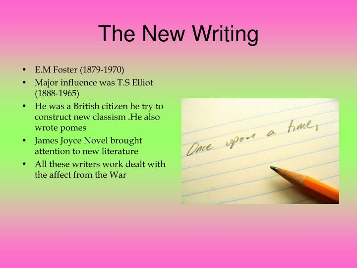 The New Writing