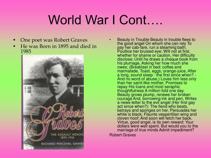 One poet was Robert Graves