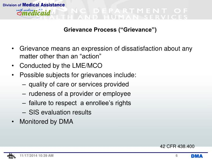 "Grievance Process (""Grievance"")"