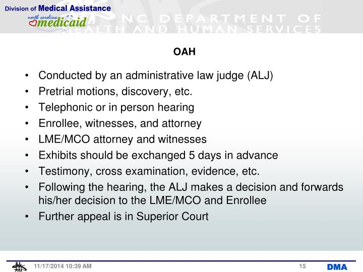Conducted by an administrative law judge (ALJ)