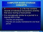 computer based storage concepts8