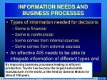 information needs and business processes2