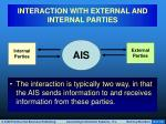 interaction with external and internal parties2