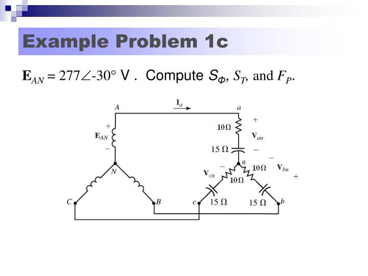 Example Problem 1c