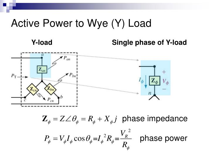 Active Power to Wye (Y) Load