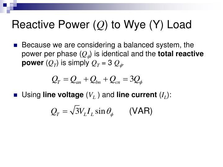 Reactive Power (