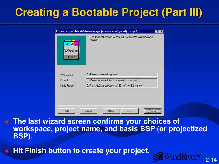 Creating a Bootable Project (Part III)