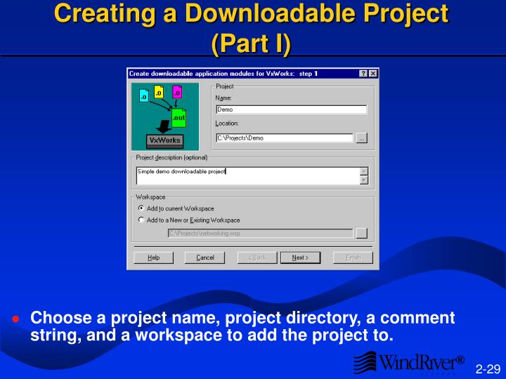 Creating a Downloadable Project