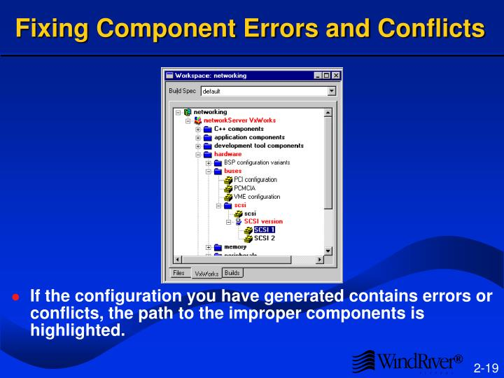 Fixing Component Errors and Conflicts