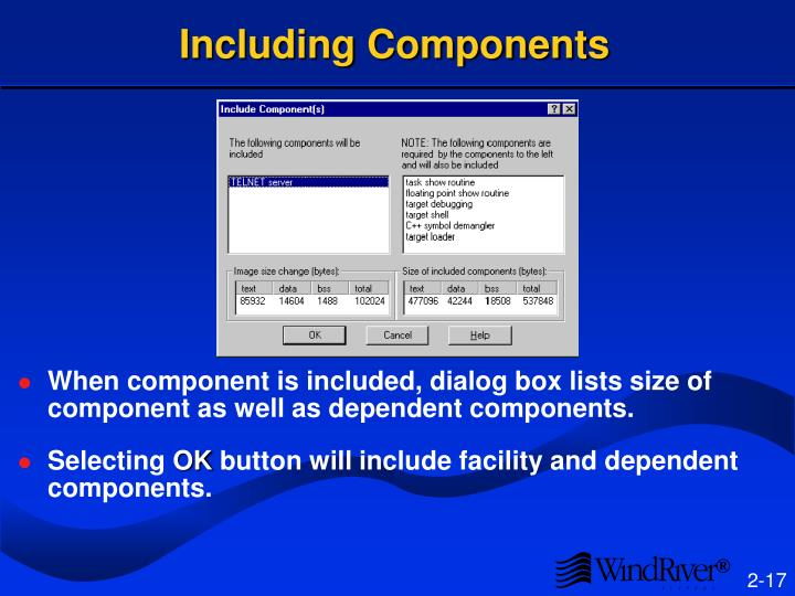 Including Components