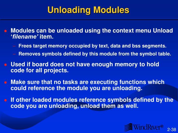 Unloading Modules