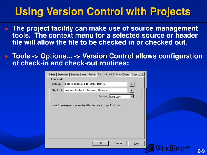 Using Version Control with Projects