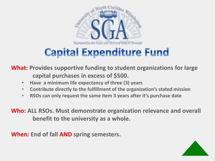 Capital Expenditure Fund