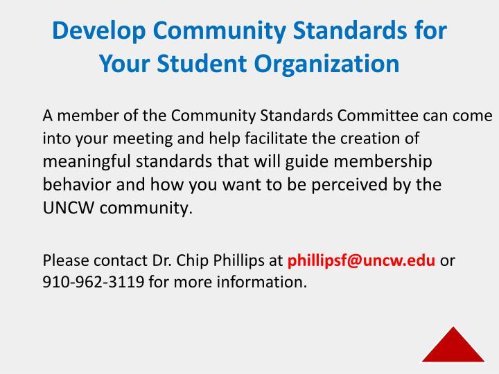 Develop Community Standards