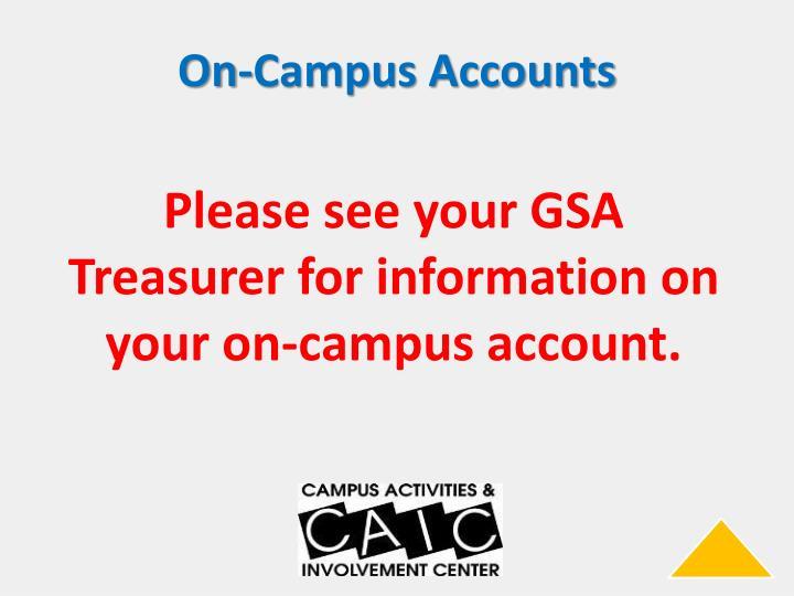 On-Campus Accounts
