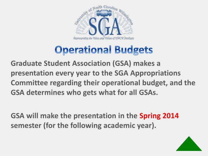 Operational Budgets