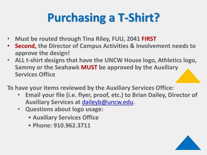 Purchasing a T-Shirt?