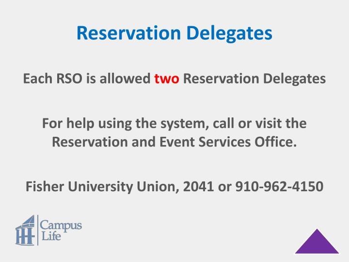 Reservation Delegates