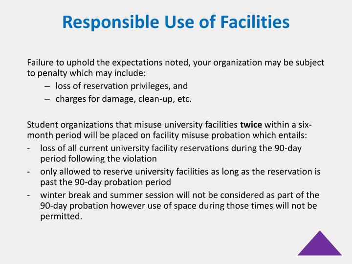 Responsible Use of Facilities