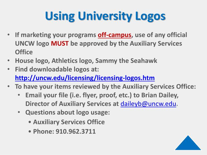 Using University Logos