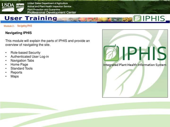 Navigating IPHIS