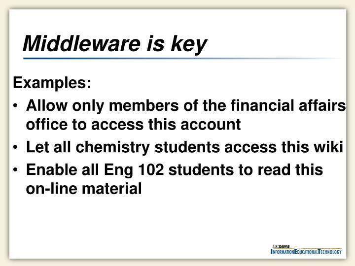 Middleware is key