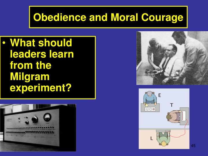 What should leaders learn from the Milgram experiment?