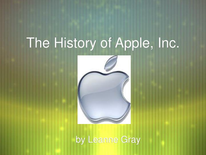 the history of apple inc n.