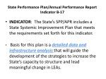 state performance plan annual performance report indicator b 17