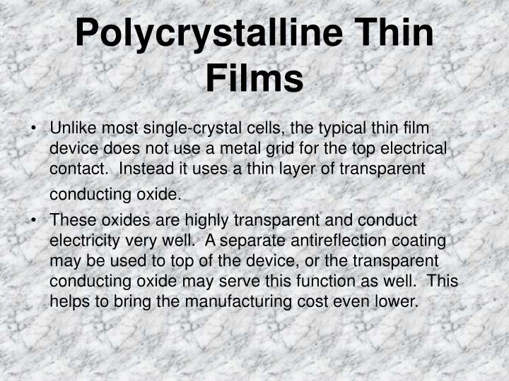 Polycrystalline Thin Films