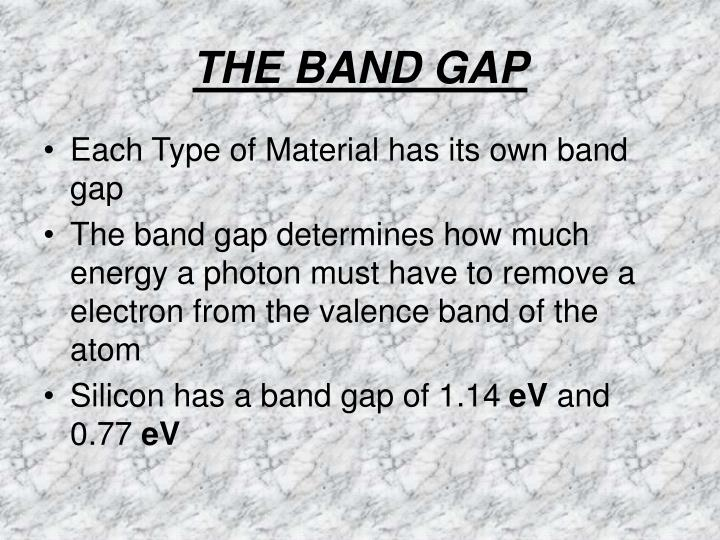 THE BAND GAP