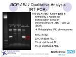 bcr abl1 qualitative analysis rt pcr