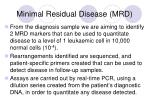 minimal residual disease mrd
