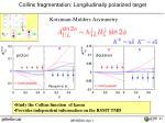 collins fragmentation longitudinally polarized target